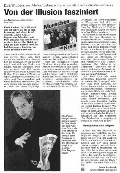 Presseartikel Und Referenzen 252 Ber Patrick Mirage